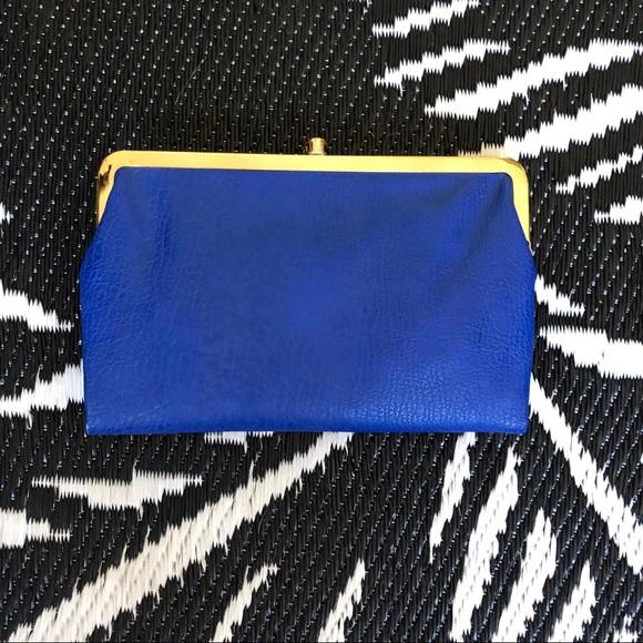 Handbags - Cobalt Vegan Leather Magnetic Clutch Bag